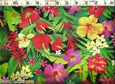 Timeless Treasures ~ Rainforest Tropical Flowers ~ 100% Cotton Quilt Fabric BTY