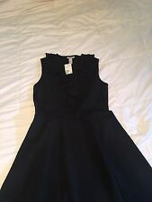 H&M Spring Summer Work Shift Black Dress NWT Ruffles wedding formal