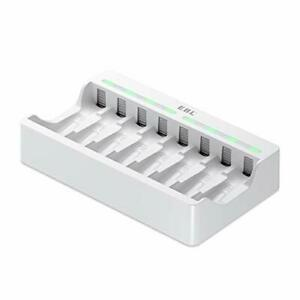 8-slot AA AAA Battery Charger - Individual Battery Charger with 5V 2A Fast