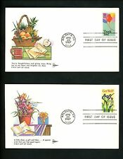 US FDC #2267-74 Set of 8 Gill Craft GillCraft Cachet Greetings Special 1987