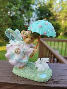 Cherished Teddies CLARISSA 114035 Spring Fairy Wings Umbrella & Bunnies