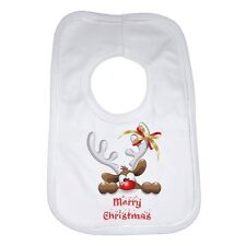 Merry Christmas New Personalised Funny Baby Bib Soft Cotton for Boys & Girls