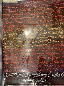 Vintage Saint Louis Symphony Orchestra 1984 - 1985 Season Leonard Slatkin Poster
