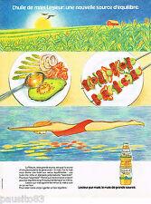 PUBLICITE ADVERTISING 055 1981  LESIEUR  huile de mais