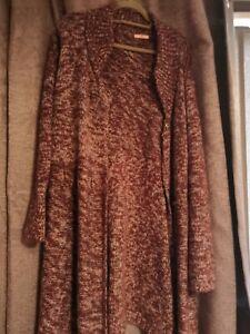 Joe's Browns Long Cardigan. Size 24/26