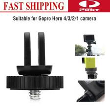 "1/4"" Screw Mount Base Tripod Monopod Adapter For GoPro HD Hero 4 3+ 3 Camera New"