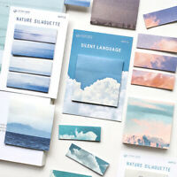Nature scenery Memo Pad Paper Sticky Notes Bookmark Label Stationery Supplies