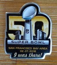 NFL 2016 Super Bowl 50 I Was There Lapel Pin Denver Broncos Carolina Panthers