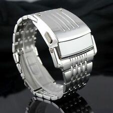 Men Digital Big Wristwatch Iron Man Style LED Display Watch Stainless Steel New