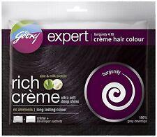 5 X Pack Godrej Expert Herbal Rich Creme Hair Color No Ammonia burgundy