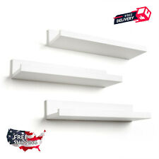 Set of 3 14-inch Modern White Display Floating Wall Shelves -- USA Seller!!!