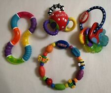 Nuby And Munchkin Baby Rattle Clicking And Teething Toy bundle