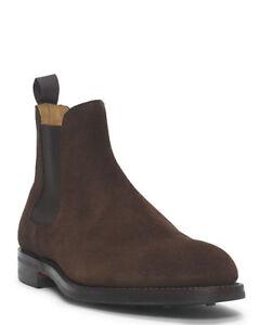 Ralph Lauren Purple Label Crockett & Jones Suede Ruddington Chelsea Boots New