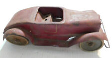 Vintage Wind Up Tin Roadster Hill Climber Pressed Steel Car