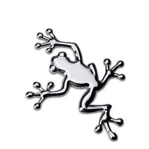 Car Emblem Frog Metal Stickers Fender Auto Motorcycle Badge Black Chrome Styling