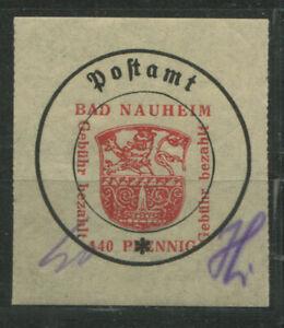 Lokal Bad Nauheim 8 I y mit Plattenfehler IV postfrisch (B11996d)