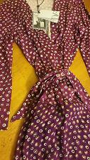 DVF Irina  Combo Wrap Dress  In Pirouette Dot  US sz 12 Brand New $498