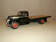 VINTAGE HIGHWAY 61 BLACK 1946 CHEVY CHEVROLET FLATBED DELIVERY TRUCK GOOD COND