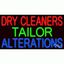 New Dry Cleaners Tailor Alterations 37x20 Real Neon Sign Withcustom Option 11695