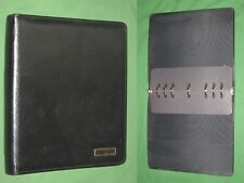 Folio 10 Black Leather Day Timer Planner 85x11 Monarch Franklin Covey 324