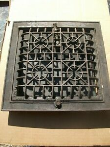 Heat Air Grate Wall Register 10x10 approx.LOCK WELL Brand complete w/perim frame