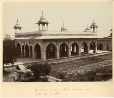 Inde, Delhi, Diwan-i-Khas Vintage albumen print. Tirage albuminé  21x27  C