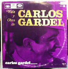 3 LP CARLOS GARDEL vida y orba de volume 4 Mint- EMI 4595/4596/4597 Argentina