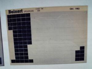 Yamaha Ca 50 1984 Microfilm Catalogo Ricambi Pezzi di Listello