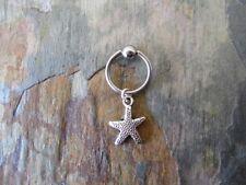 "Starfish Cartilage Piercing Captive Ring Tragus 16 Gauge 1/2"""