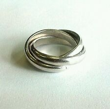 Beautiful Sterling Silver Rolling Ring 3 Rings