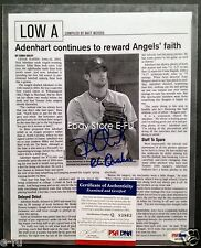 #2 NICK ADENHART Signed Baseball America Autograph Photo PSA/DNA RC Quakes Auto