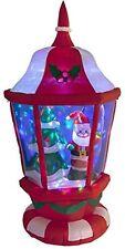 Gonflable Noël Lanterne Avec Santa arbre & Boule Disco Jardin Lumières 180 cm