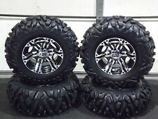 "25"" QUADKING ATV TIRE & ITP SS212 M  WHEEL KIT LIFETIME WARRANTY POL3CA BIGGHORN"