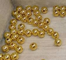 50 Perlen gold Hochzeit Metallic 10mm Perle Weihnachten  Perlen zum Auffädeln