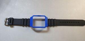 Sony SmartWatch 3 SWR50  Blue Housing (adapter) & Black Rubber Strap