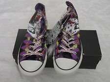 Converse Chuck Taylor High Top Purple Harley Quinn Size 10M 12W Sneakers