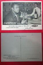 JOHN DAVIS CARPANO PUNT E MES cartolina pubblicitaria Campioni Mondo sollev.pesi