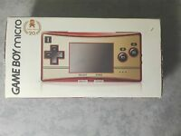 CONSOLE NINTENDO GBA GAME BOY ADVANCE MICRO FAMICOM 20TH ANNIVERSARY COMPLETO