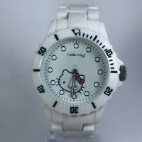 Hello Kitty Womens H3WL-1001 White Plastic Model Quartz Analog Bracelet Watch