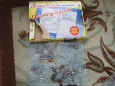 14 Magna Doodle Drawing Stencils in box-letters,numbers,animal,activity scenes
