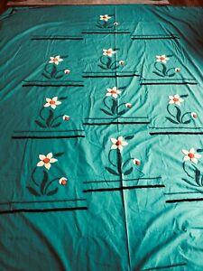 Vintage Handmade Chenille Bedspread, Needs Repair