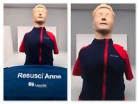Laerdal Resusci Anne Torso 31000601 Adult CPR Trainer Manikin w/soft case/ Parts