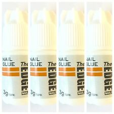 4 x PACK The Edge Professional Nail Tip Strong GLUE 3g (anti-fungal)
