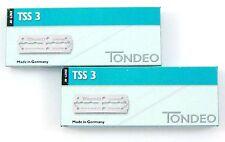 TONDEO 2 x 10 lange Klingen TSS 3 für Sifter Rasiermesser