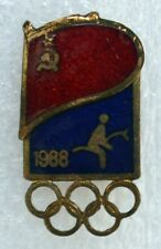 1988 Seoul Olympic Russian Equestrianism Team Official Badge Pin Russia Olympiad