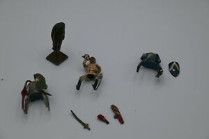 """""""All The Rest"""" 2 Headless Riders Paint Ok Most Weapons Bent Made in France"""