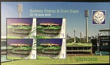 AUSTRALIA 2019 SYDNEY STAMP AND COIN EXPO MINI SHEET DAY 1 POST MARK L/EDITION