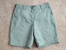 Women's Basic Editions Size 10 Classic Fit Sage Green Shorts