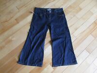 Womens Size 8 28 Tex By Max Azria Casual Short Denim Capri Pants Jeans Flare