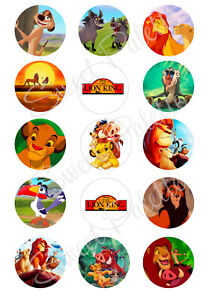 The Lion King Cupcake Toppers | Edible Print | Icing / Wafer Paper